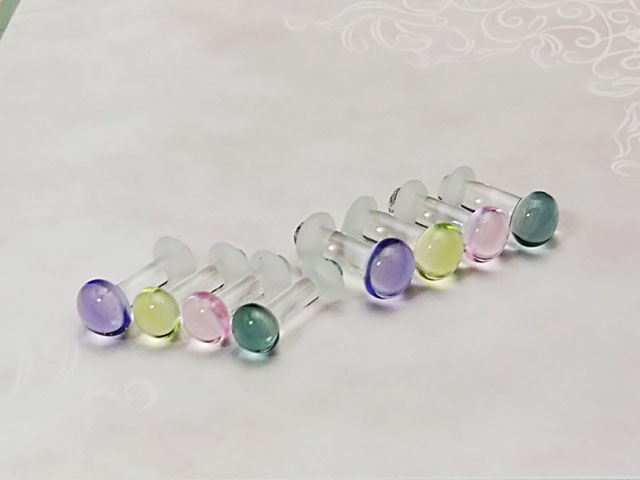 ニューカラーガラスのボディピアス ボディピアス 値引き ニューカラーパイレックスガラス ガラスボディピアス☆ラウンド6G:4ミリサイズ 開店記念セール
