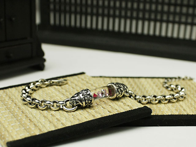 PX-G Silver Bracelet 桜 シルバーガラスアクセサリー ブレスレットミディアムサイズサクラ Made In Japan
