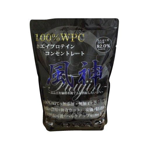ファイトクラブ 風神プロテイン 徳用5kg ホエイ・プロテイン・コンセントレート 【コンビニ受取可】