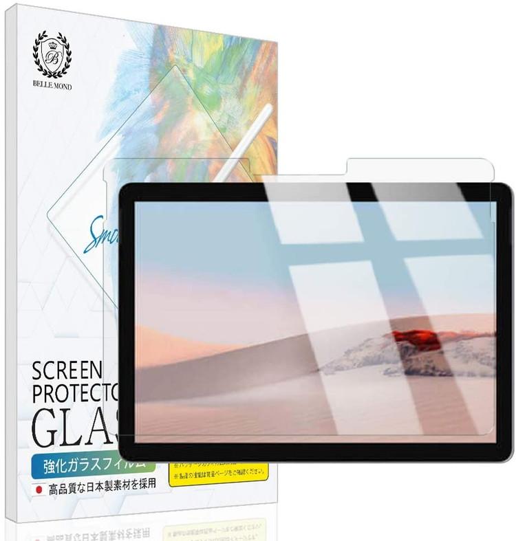 Surface Go2 2020 Go 2018 透明 ガラスフィルム 高透過 硬度9H 保護フィルム 4日20時よりスーパーSALE 日本未発売 強化ガラス GCL 指紋防止 ベルモンド B0179 激安通販ショッピング BELLEMOND 気泡防止