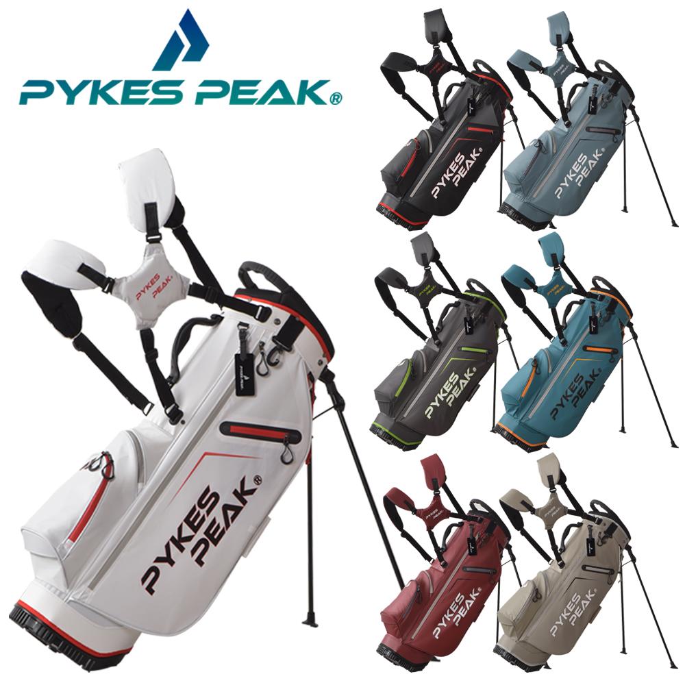 公式 PYKES PEAK パイクスピーク キャディーバッグ スタンド 軽量 2.4kg 5分割口枠 47インチ対応 メンズ ゴルフバッグ COOL 9.0 SERIES 型 FBA レディース ついに入荷 ☆国内最安値に挑戦☆