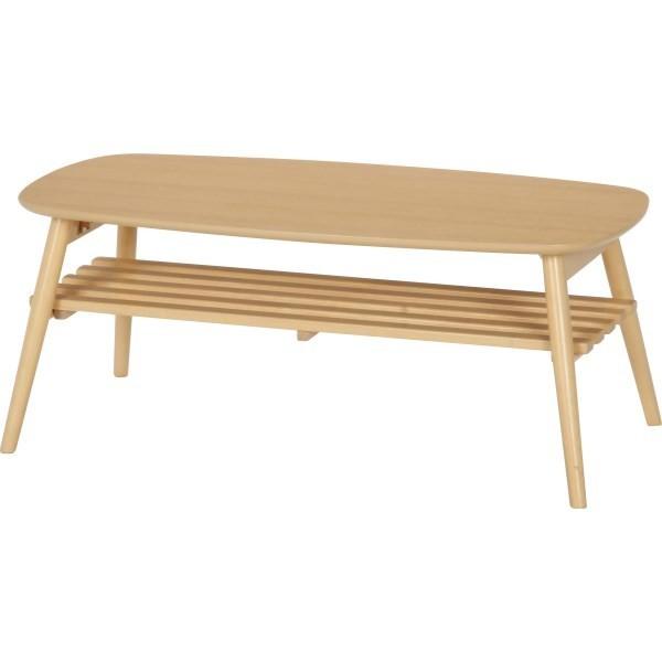 折りたたみテーブル おしゃれ センターテーブル リビングテーブル 折りたたみ 木製 木製テーブル 北欧 コーヒーテーブル テーブル 棚付き カフェテーブル 幅100