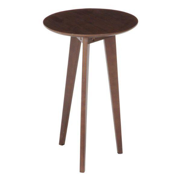 ナイトテーブル 60cm 高い アンティーク風 コンパクト コーヒーテーブル 丸 アンティーク 人気上昇中 サイドテーブル おしゃれ イタリア 高さ60 ソファー用 スリム 丸型 カフェテーブル カフェ 天然木 木製 北欧 訳あり品送料無料