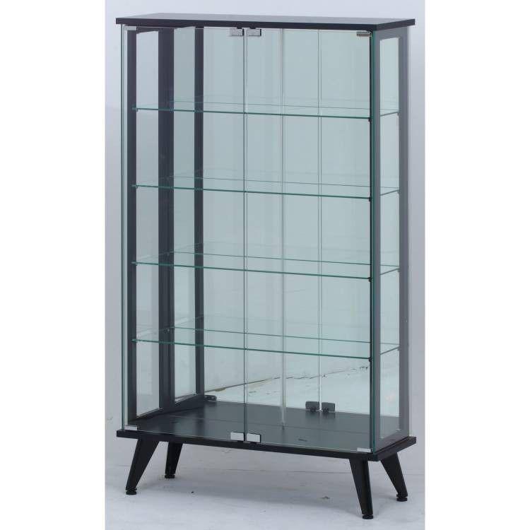 ガラスケース フィギュア ディスプレイ ショーケース コレクションケース ガラス 棚 業務用 人形 コレクションラック キャビネット 北欧 幅80 大型