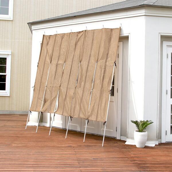 日よけ スクリーン サンシェード 洋風 ロールアップ洋風たてす 幅300x高さ240cm 3SET レクト-RECTO- (たてす すだれ 300幅)
