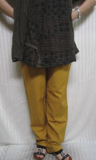 送料無料 夕日の色の追っかけおれんじ戦隊 イエロー系 綿100% パンツ30代.40代.50代.60代.70代 個性派シニア レディースファッション ミセス 人気激安 送料無料でお届けします