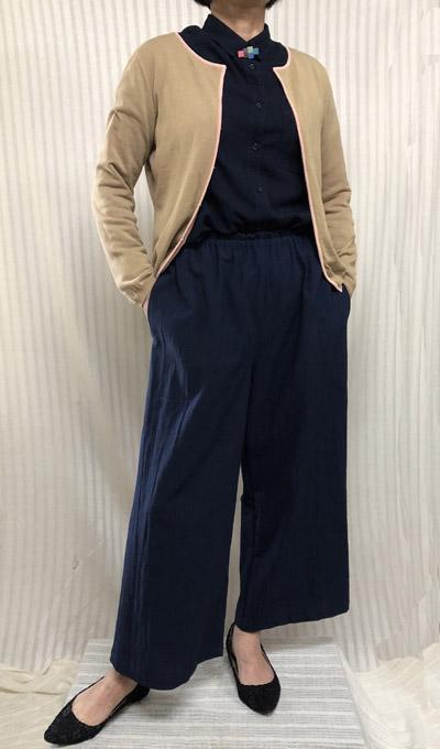 【大きいサイズ/日本製/オーダーメイド/送料無料】ラクパン♪すっきりワイドパンツ全11色/綿100%/ゆったりサイズ/40代.50代.60代.70代 個性派 シニア レディースファッション