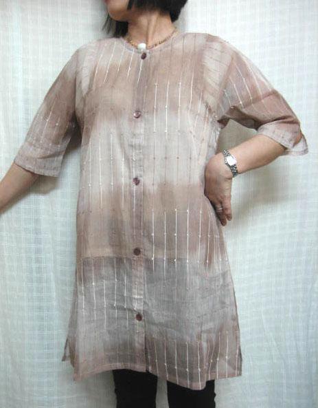 送料無料 夏の大人の手織り綿100%グラデーション シースルージャケットゆったりサイズ 40代.50代.60代.70代個性派 レディースファッション 公式サイト 代引き不可 ミセス シニア