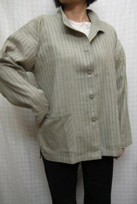 送料無料 日除けの立ち衿 透かし織りジャケットライトグリーン 綿100% 大きいサイズ 40代.50代.60代.70代個性派 レディースファッション ミセス シニア 新色 売れ筋