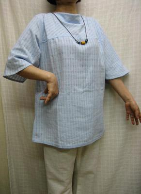 送料無料 軽くてゆったり 水色のプルオーバー綿100% 全店販売中 ゆったりサイズ 40代.50代.60代.70代 シニア 買い取り ミセス 個性派 レディースファッション
