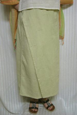 送料無料 巻きスカート風ひらり脇役の黄色の無地スカート綿100% 30代.40代.50代.60代.70代個性派 ミセス 高品質 シニア レディースファッション 毎日激安特売で 営業中です