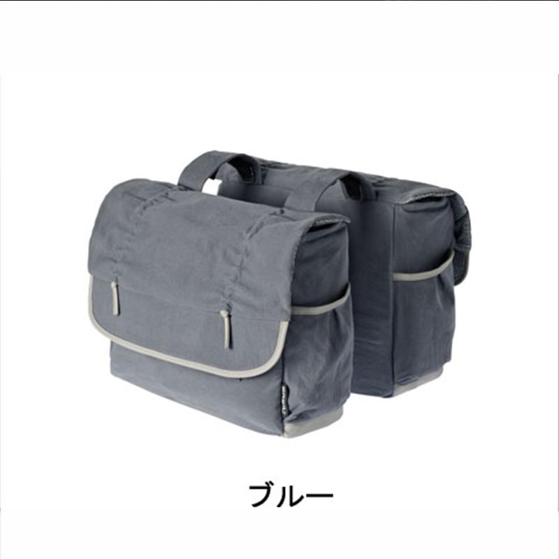 BASIL(バジル) ELEMENTS DOUBLE BAG (ダブルバッグ) フェードブルー[サイド・パニアバッグ][自転車バッグ]