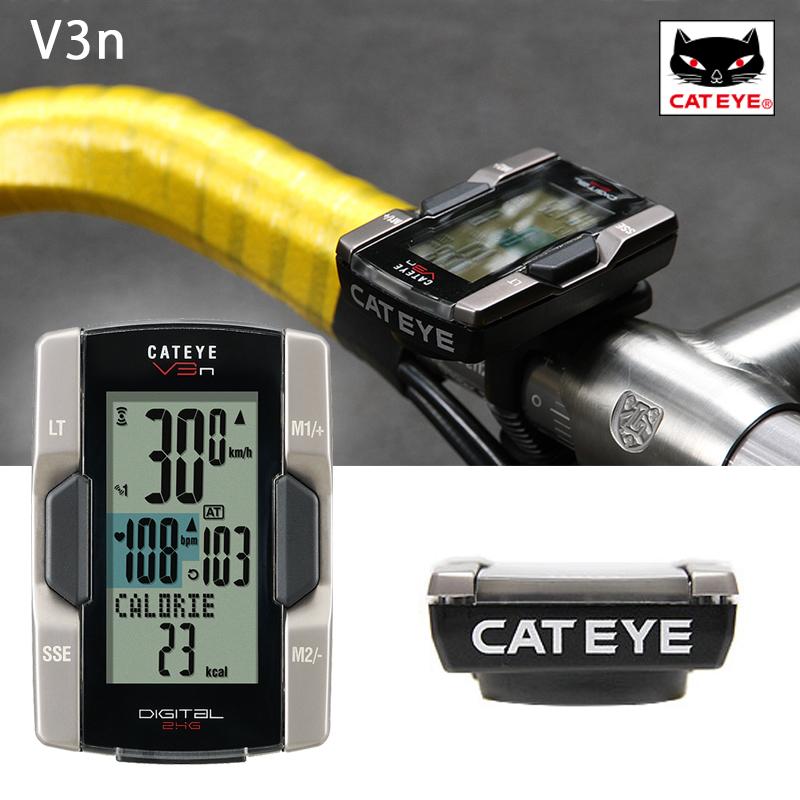 《即納》CATEYE (キャットアイ) V3N (心拍センサー付き) CC-TR310TW[サイクルメーター・コンピューター][ケイデンス機能付き][ワイヤレス]