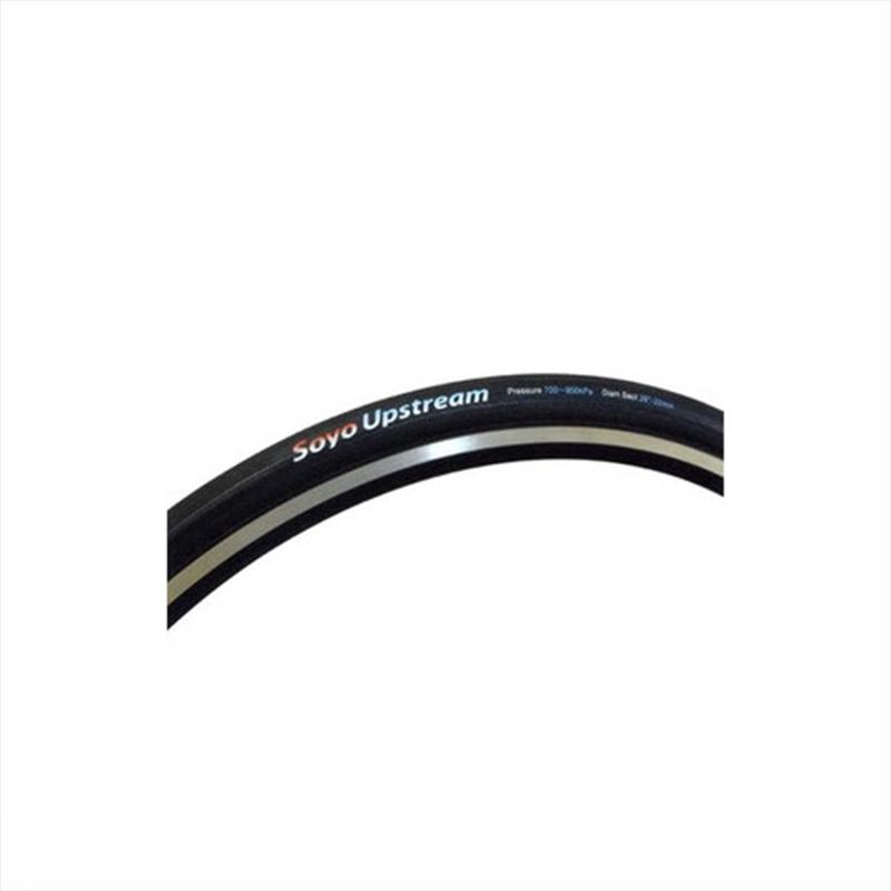 "SOYO TYRE (ソーヨータイヤ) UPSTREAM (アップストリーム) 28""×22mm オールブラック[700×22~24c][チューブラータイヤ][タイヤ・チューブ]"