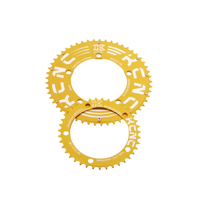 KCNC (ケーシーエヌシー) K2-KTYPE (K2 Kタイプ) ROADダブルセット:50T/110 ゴールド[クランクセット(PCD110)][クランク・チェーンホイール]