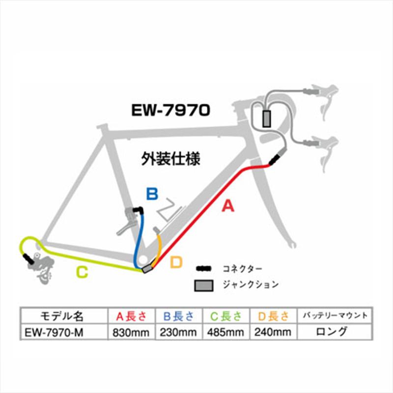 SHIMANO DURA-ACE Di2 (シマノデュラエースDi2) EW-7970 M Junction B (ジャンクションB) 外装仕様 830mm [IEW7970M][消耗品・ワイヤー類][シフトワイヤー]