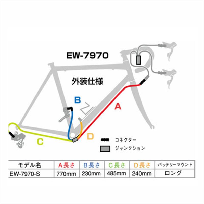 SHIMANO DURA-ACE(シマノ デュラエース) EW-7970 S Junction B (ジャンクションB) 外装仕様 770mm