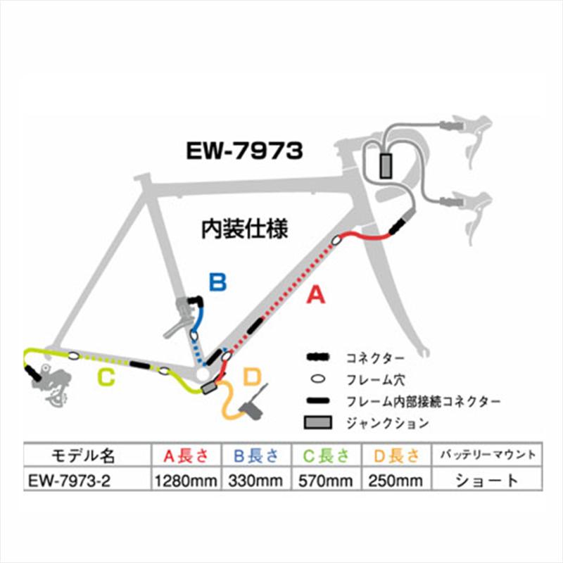SHIMANO DURA-ACE Di2 (シマノデュラエースDi2) EW-7973-2 Junction B (ジャンクションB) 内装仕様 1280mm [IEW79732][消耗品・ワイヤー類][シフトワイヤー]
