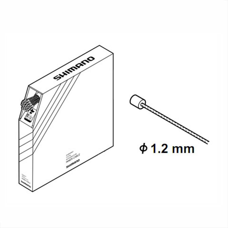 SHIMANO (シマノ) INNER CABLE for SHIFT (シフト用インナーケーブル) φ1.2mm×2000mm ステンレス製/100本[消耗品・ワイヤー類][シフトワイヤー]
