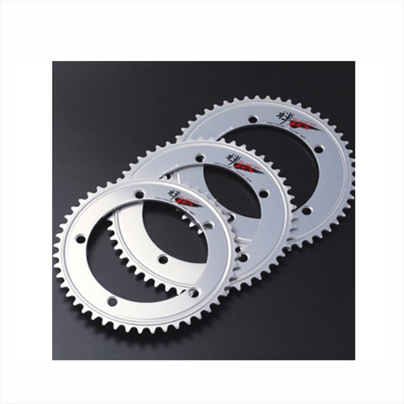 SUGINO (スギノ) ZEN 144 Chain Ring (禅144チェーンリング) 55T ポリッシュSILVER[ピスト/トラック用][ギヤ板]