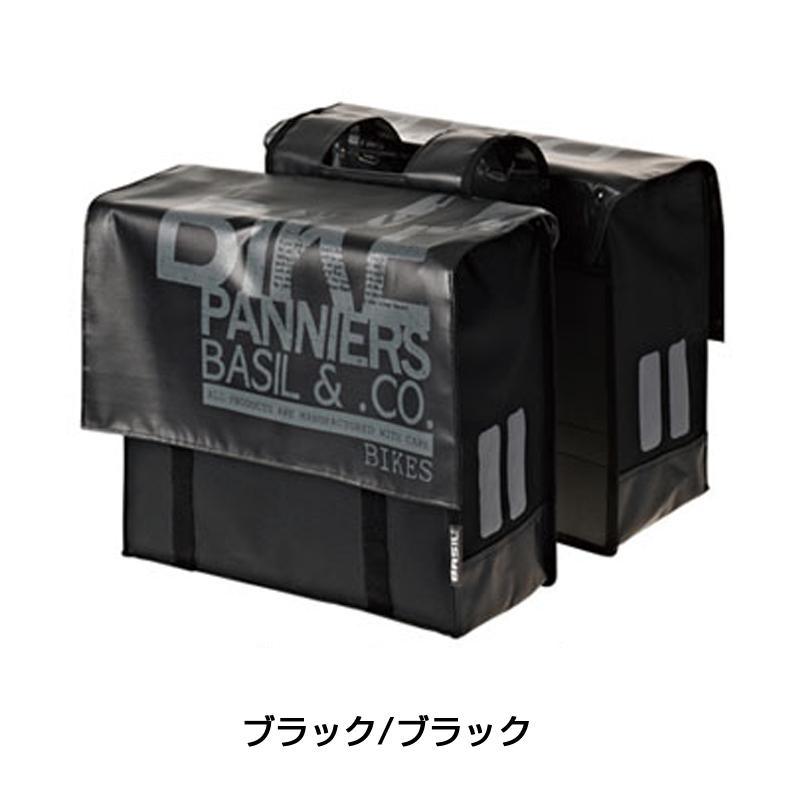 BASIL(バジル) TRANSPORT DOUBLE BAG (トランスポート タブル バッグ)[サイド・パニアバッグ][自転車バッグ]