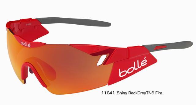 【紫外線対策】bolle(ボレー) 6TH SENSE SHINY RED GREY TNS FIRE OLEO 11841[ノーマルレンズ][アイウェア][サングラス]【スポーツサングラス】