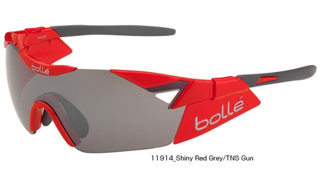 【紫外線対策】bolle(ボレー) 6TH SENSE-S SHINY RED/TNS GUN OLEO AF 11914[ノーマルレンズ][アイウェア][サングラス]【スポーツサングラス】