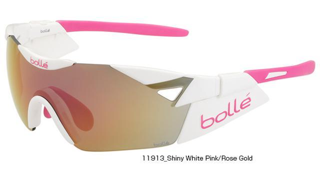 【紫外線対策】bolle(ボレー) 6TH SENSE-S SHINY WHITE PINK/ROSE GOLD OLEO AF 11913 [サングラス] [ロードバイク] [アイウェア]
