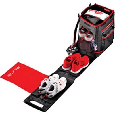 ELITE(エリート) TRI BOX(トライボックス) ブラック/レッドカラー[トランジション・遠征用バッグ][身につける・持ち歩く][自転車バッグ]