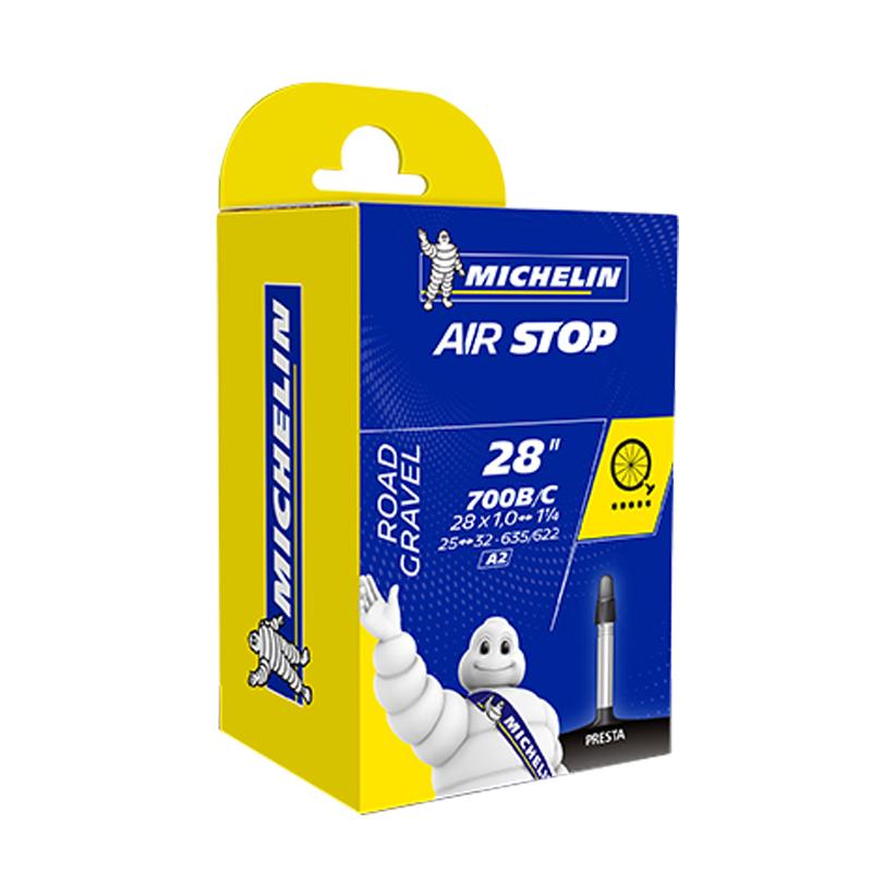 Black Michelin A1 Airstop Road Presta Valve Inner Tube 700 x 18-25cm