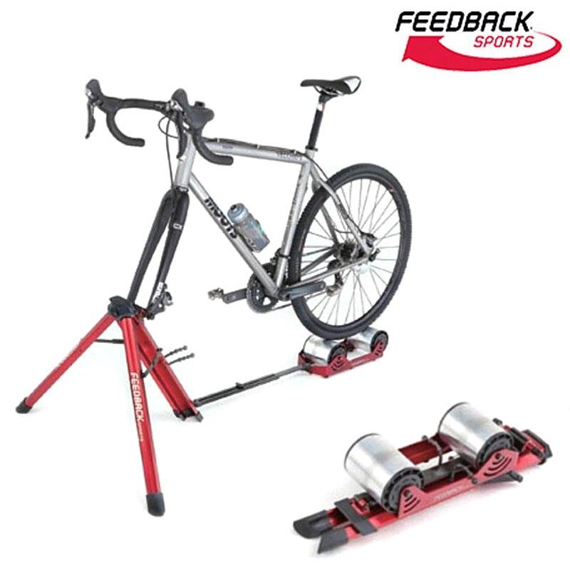 《即納》【土日祝もあす楽】【スタイリッシュローラー台!】FEEDBACK SPORTS(フィードバックスポーツ) Portable Bike Trainer ハイブリット式ローラー台