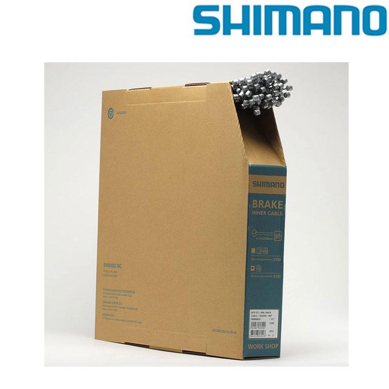 SHIMANO(シマノ) MTB用 Steel ブレーキインナーケーブルボックス(φ1.6mm×2050mm/100本)[ブレーキワイヤー・ホース][消耗品・ワイヤー類]