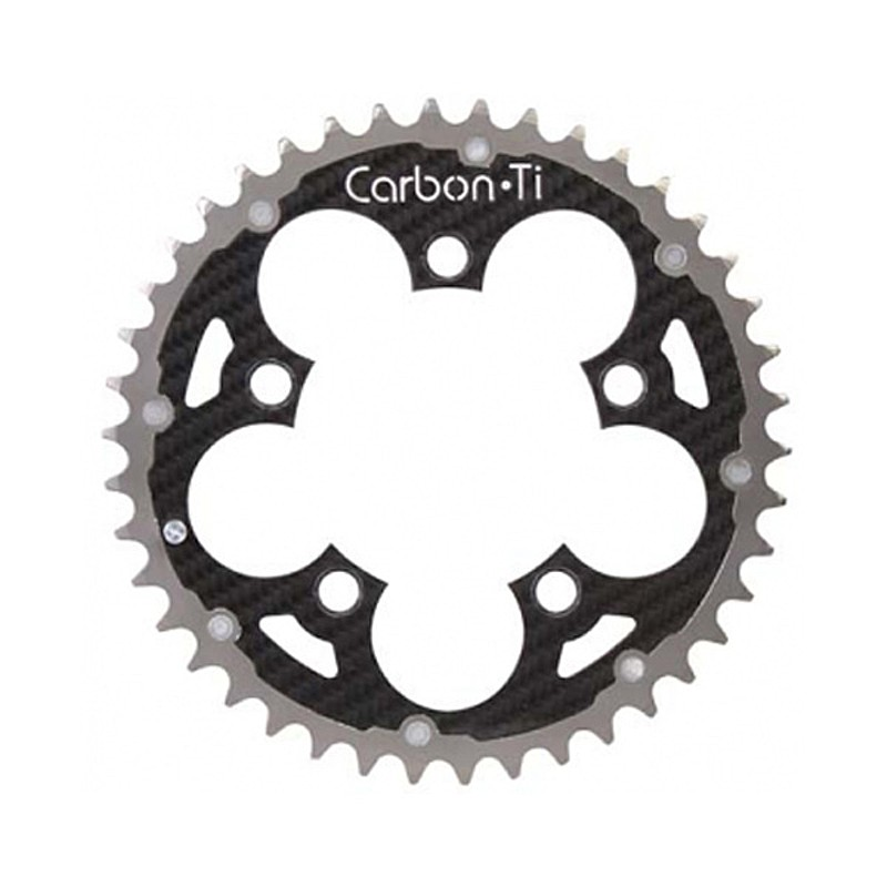 Carbon Ti(カーボンTi) Carbon Ti(カーボンTi) X-RING MTB94/42T アウターチタン/カーボン[ギヤ板][クランク・チェーンホイール]