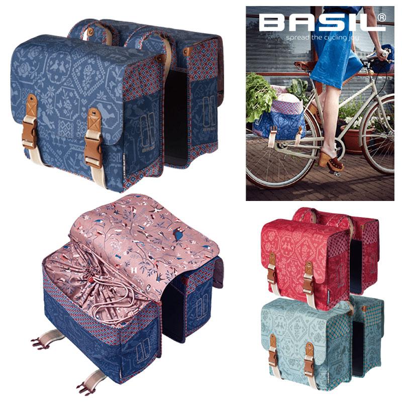BASIL(バジル) BOHEMEDOUBLEBAG(ボエムダブルバッグ)[サイド・パニアバッグ][自転車バッグ]
