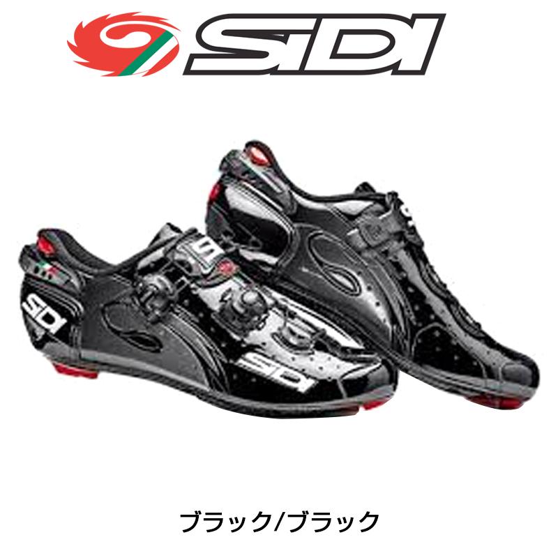SIDI(シディ) 2018年モデル WIRE CARBON L (ワイヤーカーボンLブラック/ブラック) SPD-SLビンディングシューズ [ロードバイク用][サイクルシューズ]