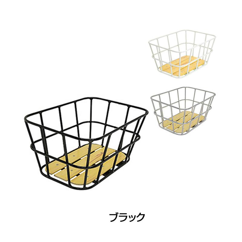GIZA(ギザ) AL-NR01 ウッドボトムリアバスケット[リアバスケット][バスケット・カゴ]