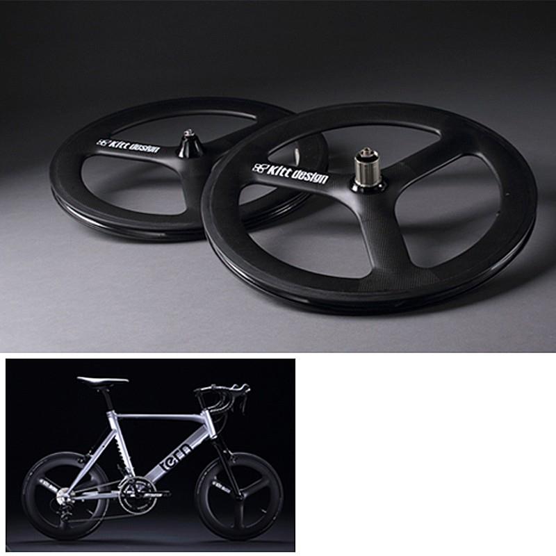 TERN(ターン) Kitt design CarbonTri-spoke F-Wheel for Disc(カーボンバトンホイール フロント用ディスクブレーキ用)