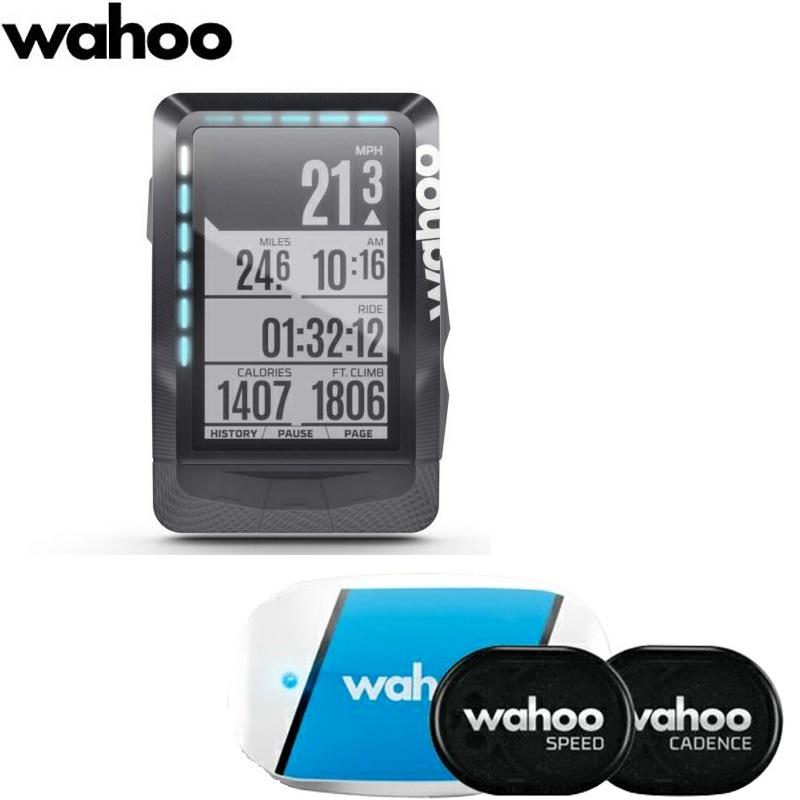 《即納》【土日祝もあす楽】【GPSナビ機能付き】 wahoo(ワフー) ELEMENT(エレメント) GPS サイクルコンピューター【センサーセット】