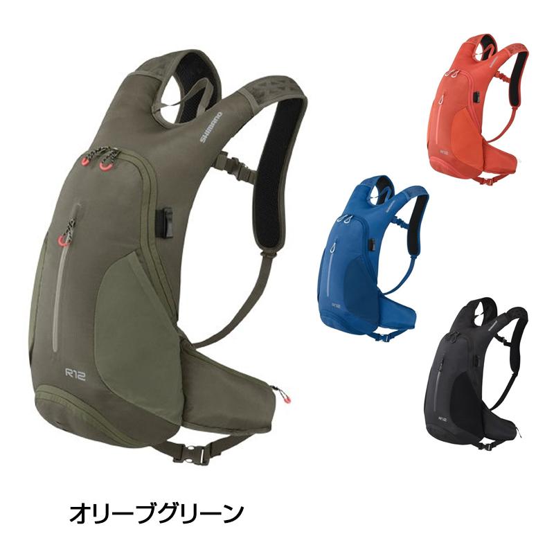 《即納》SHIMANO(シマノ) Rシリーズ New R-12/R12[バックパック][身につける・持ち歩く]