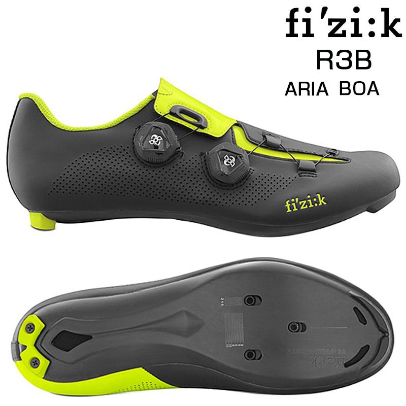 《即納》fizi:k(フィジーク) 2018年モデル R3B ARIA (R3B アリア) BOA (ブラック/イエロー) SPD-SLビンディングシューズ [ロードバイク用][サイクルシューズ]