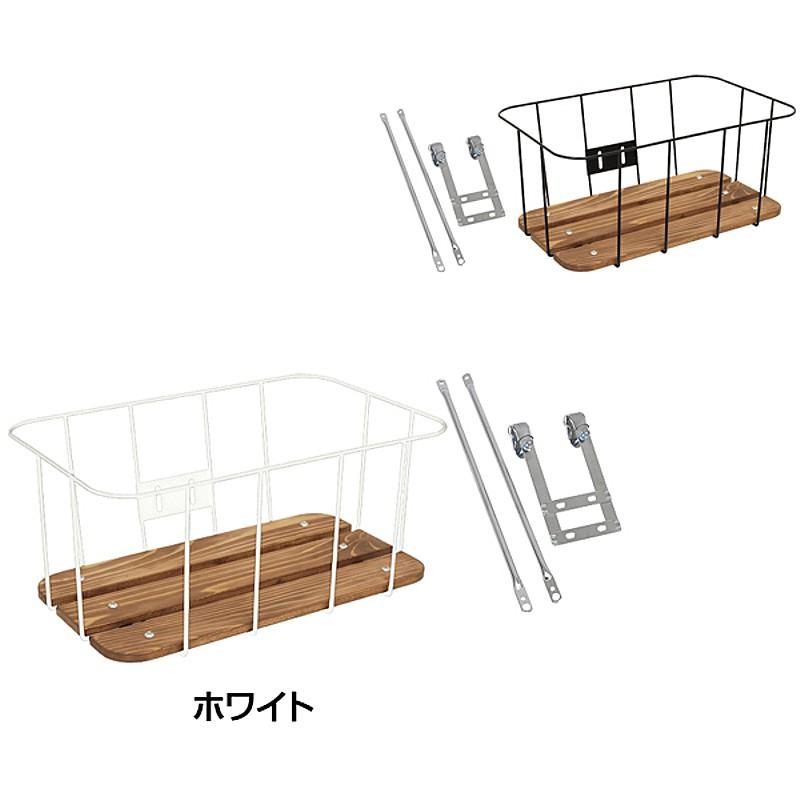 showa industries(昭和インダストリーズ) ウッドワイヤーラック深型キャリパーブレーキ用(前かご) WR-02A DEEP[フロントバスケット][バスケット・カゴ]