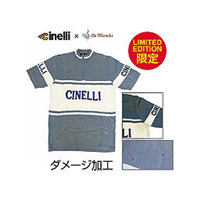 Cinelli(チネリ) 【限定】CINELLIxDEMARUKI S/S WOOL JERSEY (チネリxデマルキS/Sウールジャージ)[半袖][ジャージ・トップス]