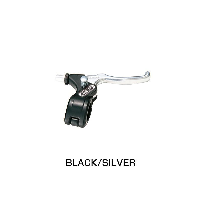 DIA-COMPE(ダイアコンペ) TECH77 フリースタイル用ブレーキレバー ストッパー有 BK/SL[フラットバー用][ブレーキレバー]