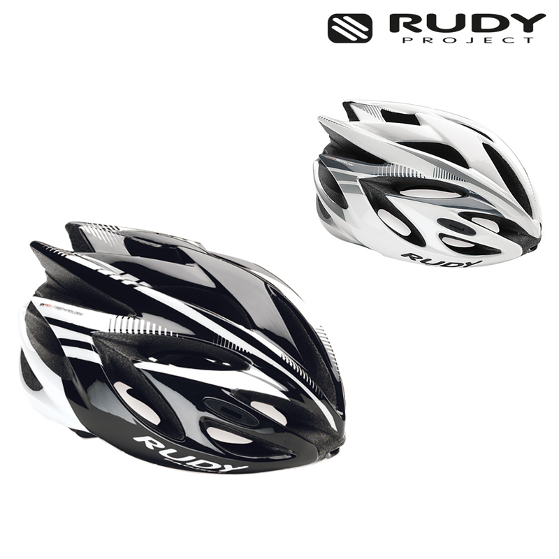 Rudy Project (ルディプロジェクト) RUSH (ラッシュ) ブラック/ホワイト[JCF公認][バイザー付き]
