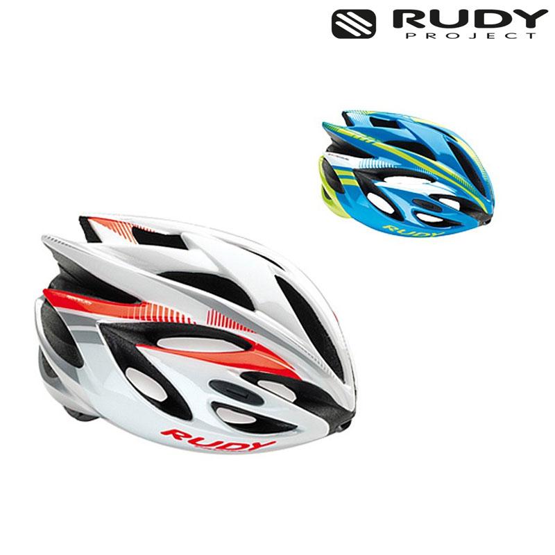 Rudy Project (ルディプロジェクト) RUSH (ラッシュ) ホワイト/レッドフルオ[JCF公認][バイザー付き]