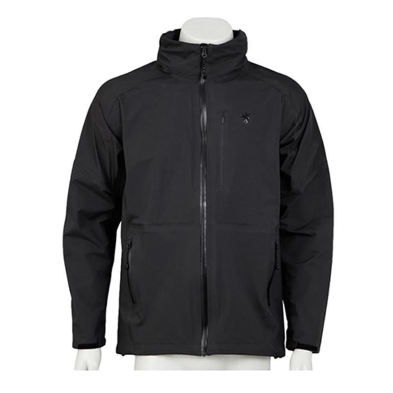 KAPELMUUR(カペルミュール) ウォータープルーフジャケット セミロング ブラック kpjk071[ロングスリーブ][ウィンドブレーカー]