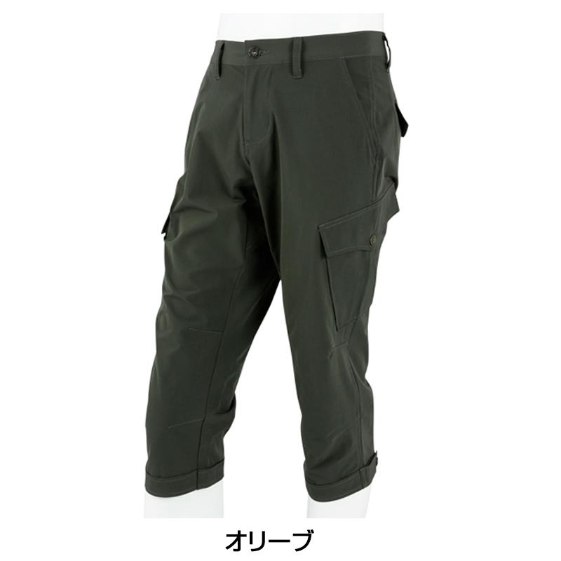 KAPELMUUR(カペルミュール) 裾ベルト付き クロップドパンツ オリーブ kpcp023[ボトムス][春夏]