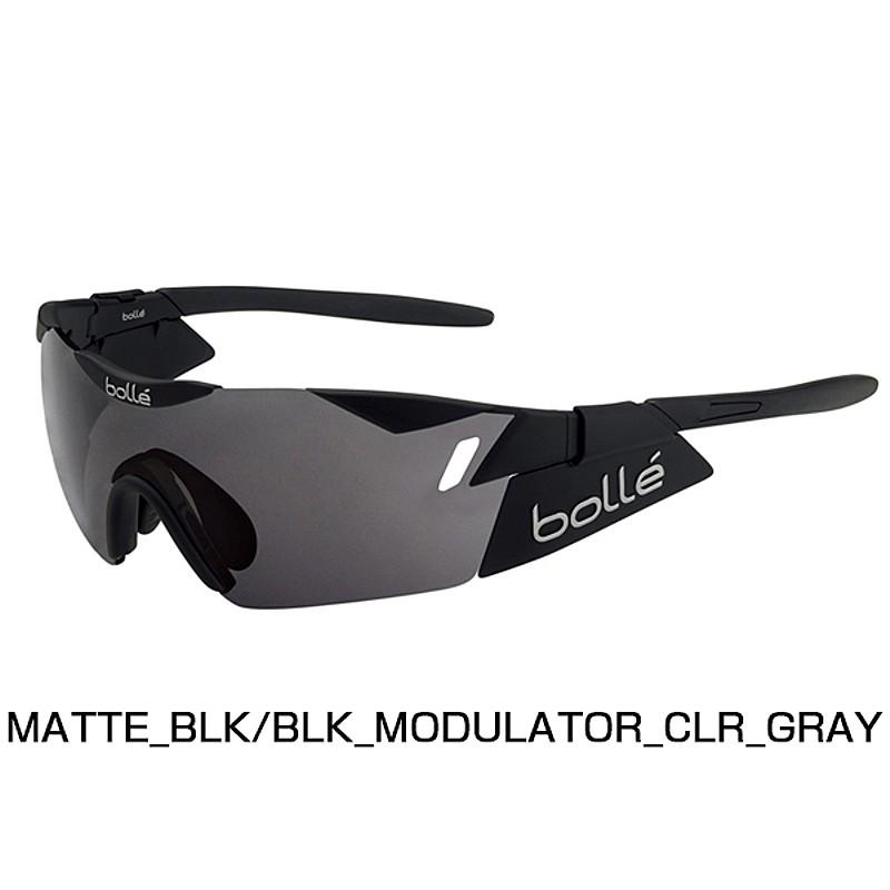 【紫外線対策】bolle(ボレー) 6TH SENSE MATTE BLACK/BLACK MODULATOR CLEAR GRAY 11912RX[調光レンズ][サングラス]