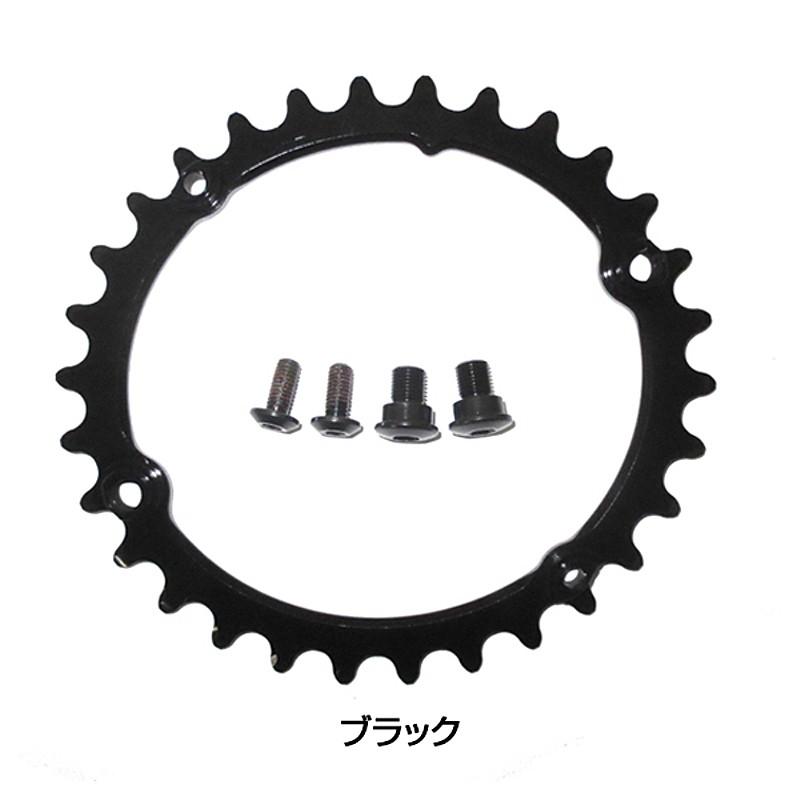 Absolute Black(アブソリュートブラック) OVAL チェーンリング(グラベルインナー) SUB-COMPACT 9100/8000系 30T 32T[ギヤ板][クランク・チェーンホイール]