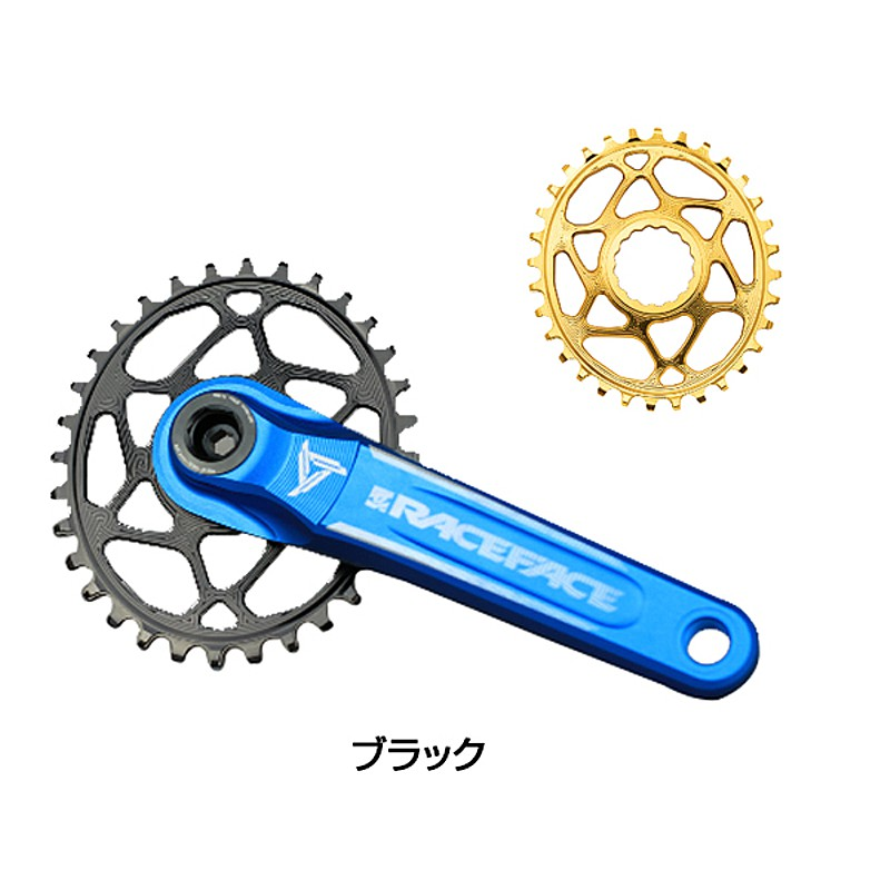 Absolute Black(アブソリュートブラック) RACEFACE OVAL CINCH DM BOOST148 (3MM OFFSET)[ギヤ板][クランク・チェーンホイール]